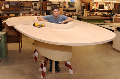 [PHOTO]Randy Ficus with conference table in progress