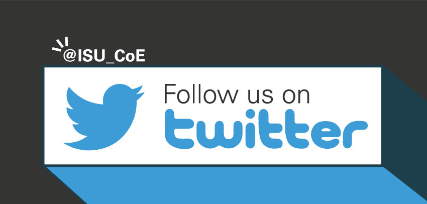 Follow us on Twitter: @ISU_CoE