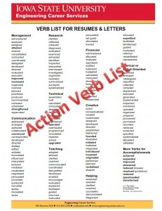 Action Verb List