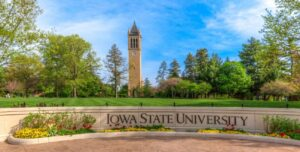 Photo of Campanile and ISU Wall