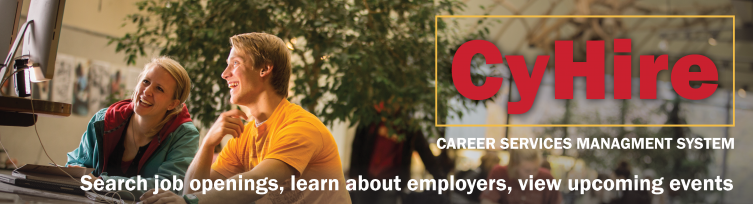 CyHire: Career Services Management System. Search job openings, learn about employers, view upcoming events