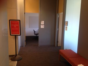 Photo of interview waiting area in Marston Hall