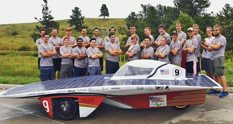 Team PrISUm's solar-powered car