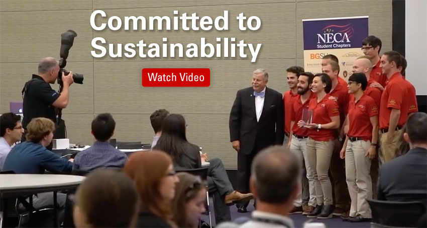 Iowa State NECA Student Chapter is Committed to Sustainability
