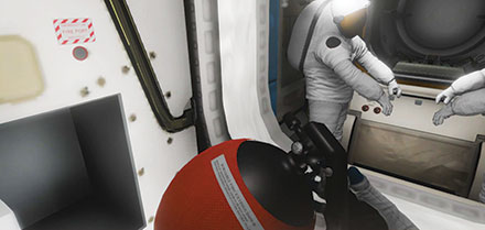 virtual reality of the international space station