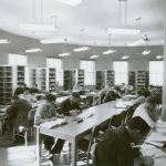 Marston Hall library historical photo