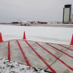 Des Moines International Airport pavement testing area