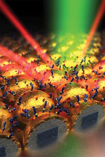 nanostructure sensor surface