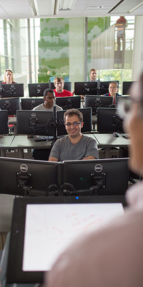 teaching in computer lab
