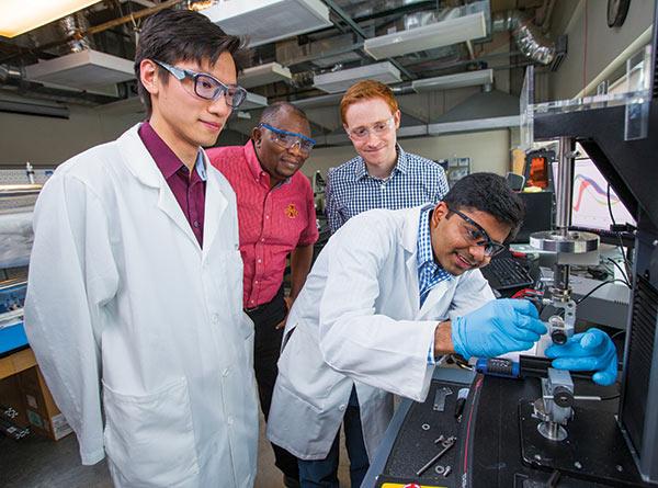 Left to right: Boyce Chang, Martin Thuo, Michael Bartlett and Ravi Tutika.