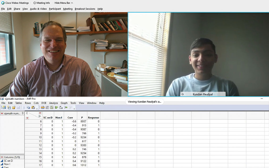 Kundan Paudyal and Cameron MacKenzie on WebEx call