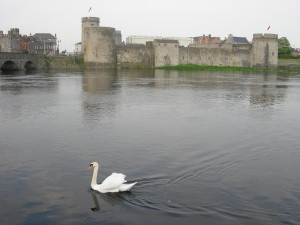 King John's Castle is located on King's island in Limerick